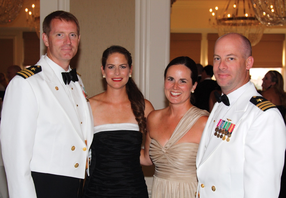 Commander Larry Meehan and Amy Meehan with Kate Brown and Commander Kit Brown.JPG