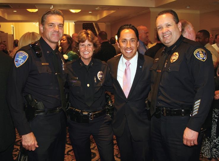 Commander Lazlo Waczek, Assitant Chief Shelly Zimmerman, Councilmember Todd Gloria, Executive Assitant Chief David Ramirez.JPG