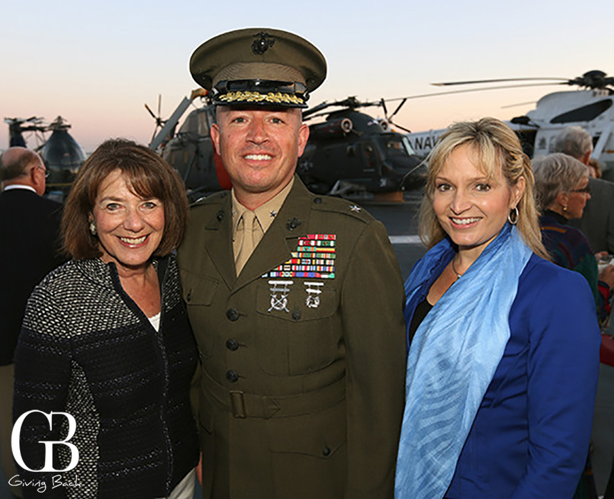 Congresswoman Susan Davis  Brig. Gen. James Bierman and Beth Bierman