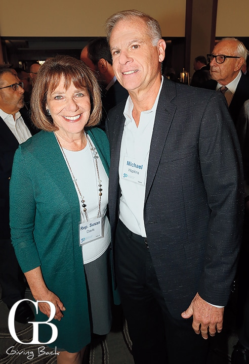 Congresswoman Susan Davis and Michael Hopkins