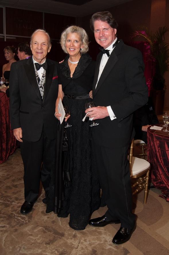 Conrad Prebys with Barbara and Gwyn Richards