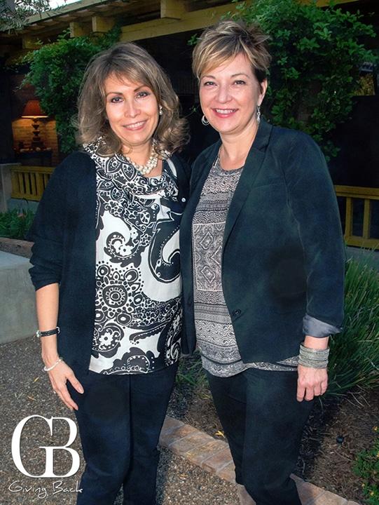 Consul Remedios Gomez Arnau and Lisa Stockley