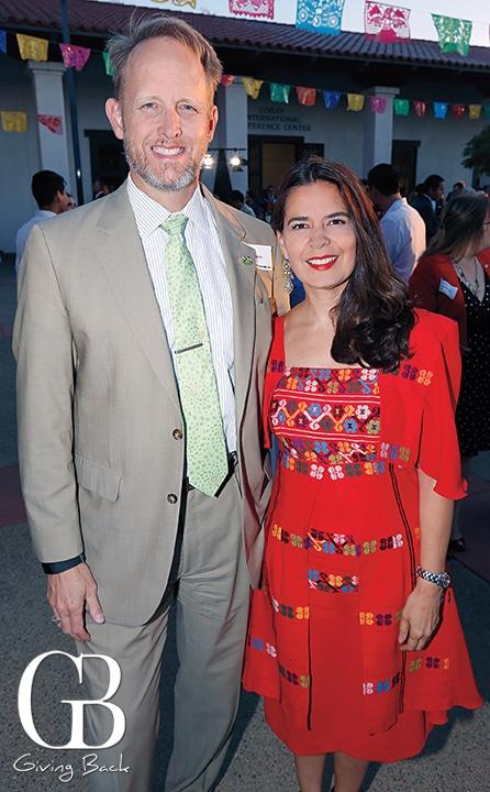 Consul William Ostik with Consul Marcela Celorio