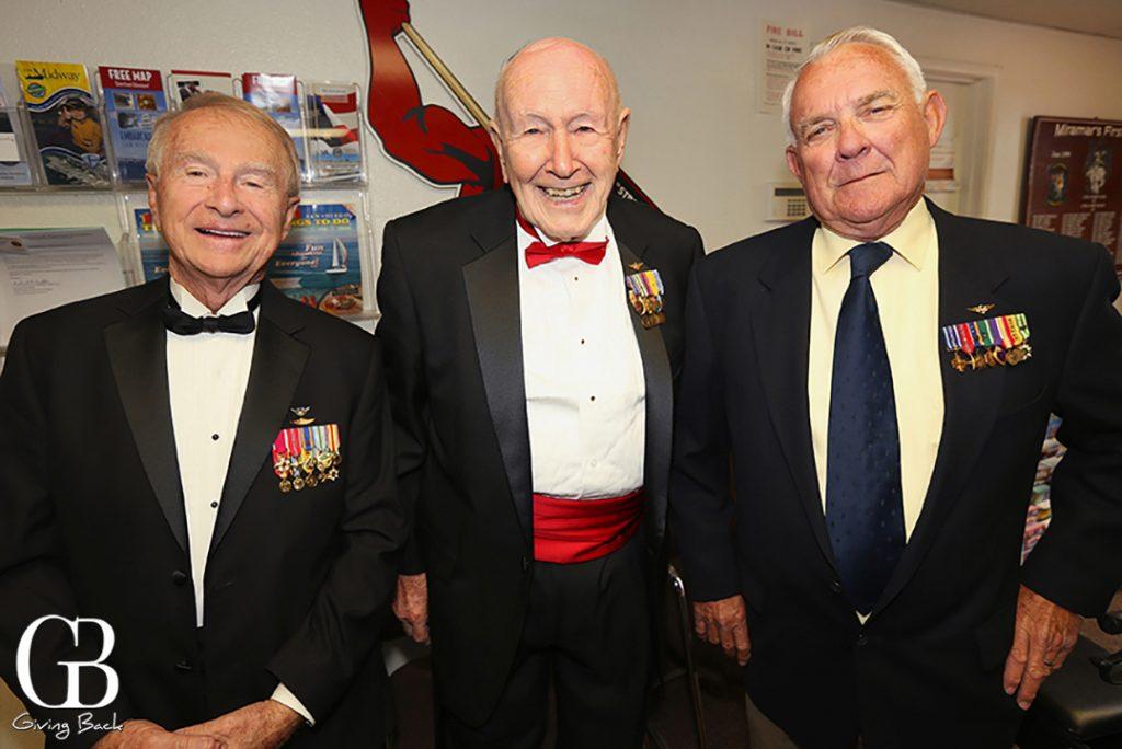 Coronel Victor Bianchini  Major Glenn Ferguson  and Lieutenant Richard Toettcher