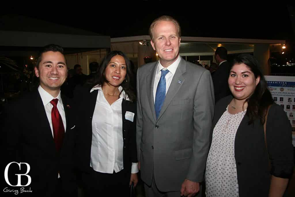 Councilman Chris Cate  Neena Westford  Mayor Kevin Faulconer and Andrea Cardenas