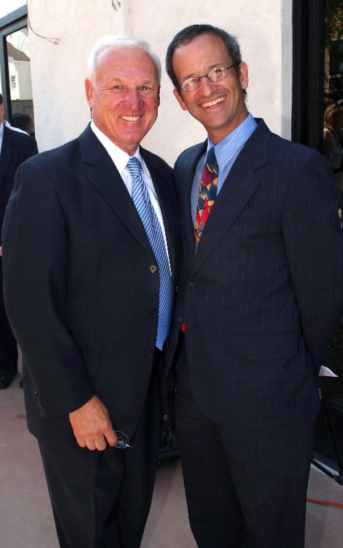 County Supervisor Ron Roberts and Rabbi Scott Miltzer.JPG