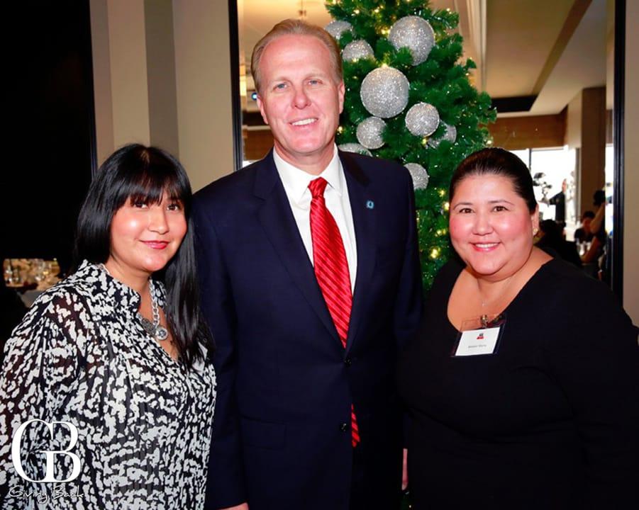 Cynthia Ybarra  Mayor Kevin Faulconer and Barbara Ybarra
