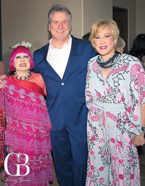 Dame Zandra Rhodes  David Bennett and Sherry Ahern