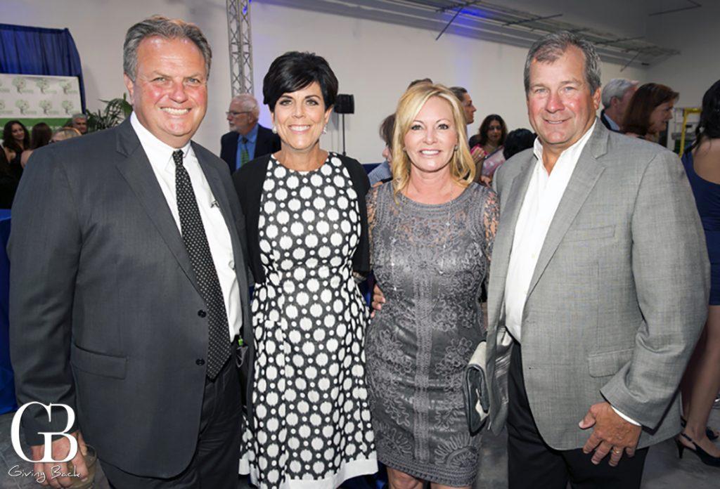 Dan and Deb Devine with Michelle and Bob Lamkin