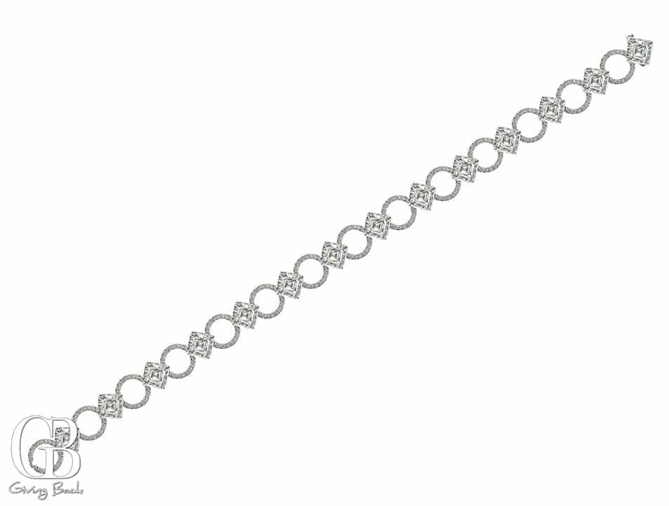 Daniel K Platinum Asscher Bracelet