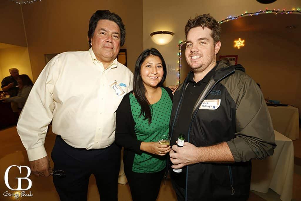 Daniel Ybarra with Cynthia Ybarra Billings and Nick Billings