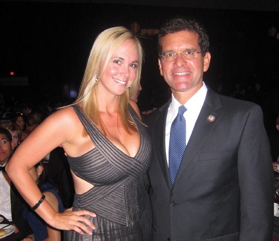 Danitza Villanueva with Commisioner Pedro Pierluisi.JPG