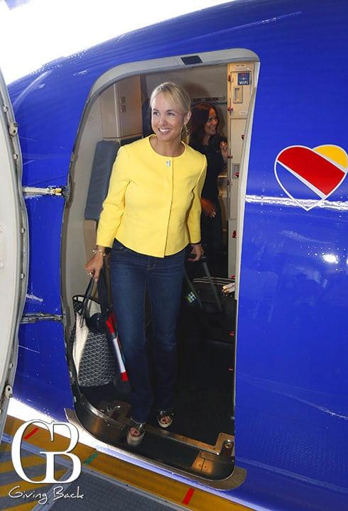 Danitza Villanueva  arriving to Cabo
