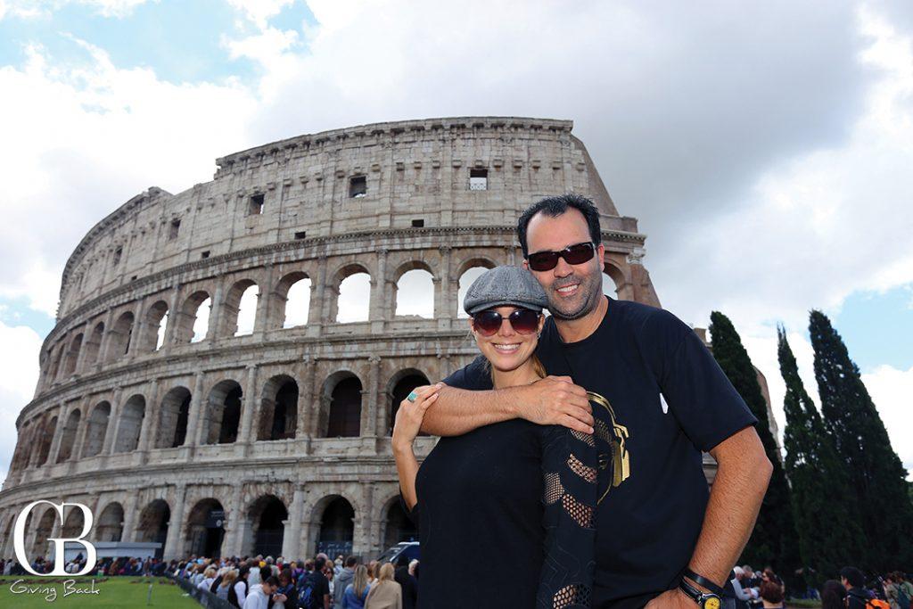 Danitza e Esteban al Colosseo