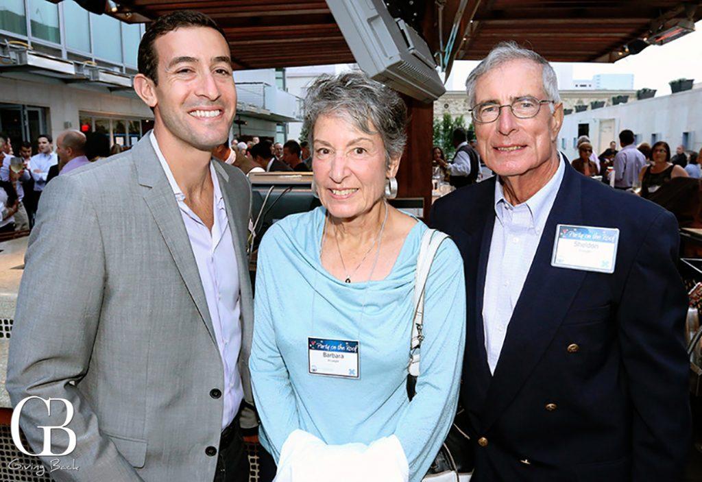 David Temko with Barbara and Sheldon Krueger