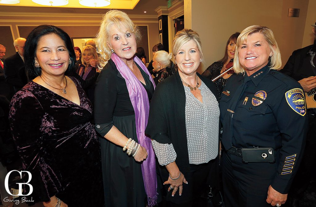 Dee Ammon  Cheryl Mitchell  Shannon O   Quinn and Chief of Police Roxana Kennedy
