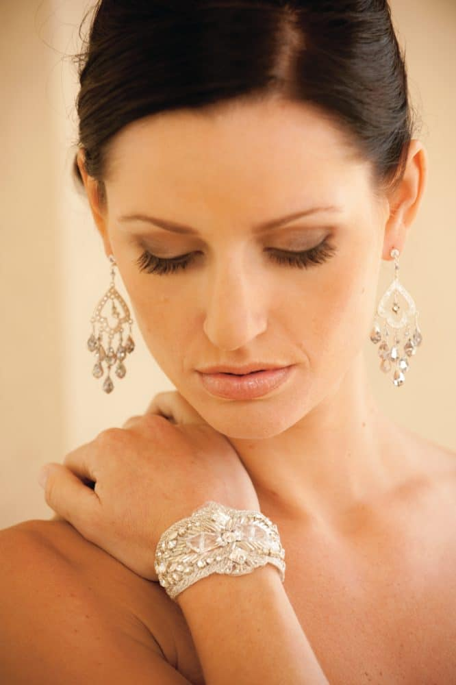 Denise Earrings, Cinderella Bracelet by Justine M Couture