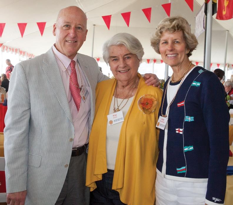 Dennis Borsenberger, Kay Porter and Lucy Borsenberger