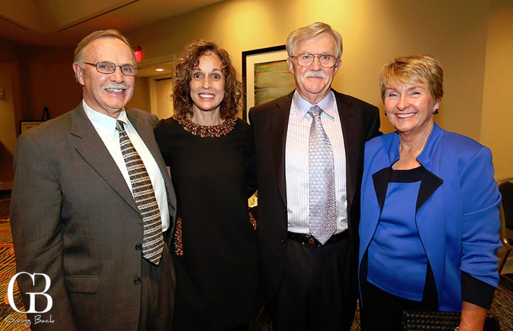 Dennis and Holly Neppen with Robert and Gail Bardin