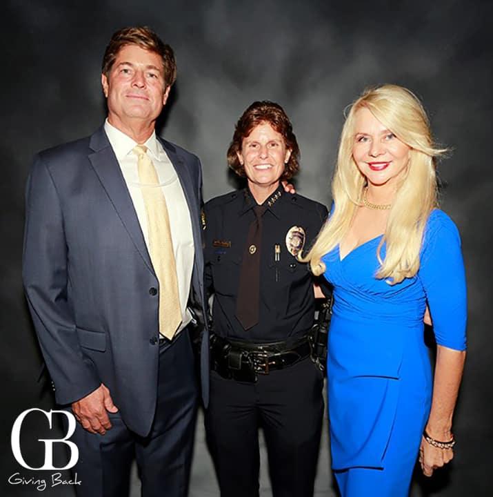 Don Vaughn  Chief Shelley Zimmerman and Kathryn Vaughn