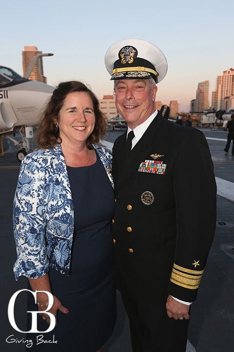 Donna and Rear Adm. Patrick Lorge