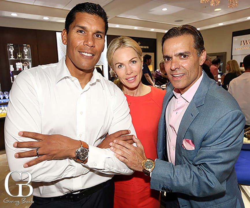 Donnie and Kathryn Edwards with Vahid Moradi