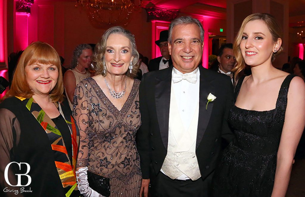 Downton Abbey s Mrs. Patmore  Julie and Tom Karlo with Lady Edith Crawley at KPBS Gala