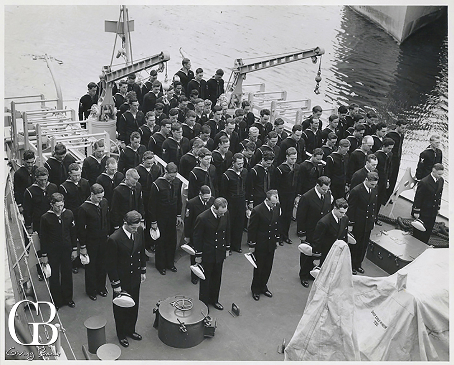 Ensign Albert Herney  third from left ship s Officer