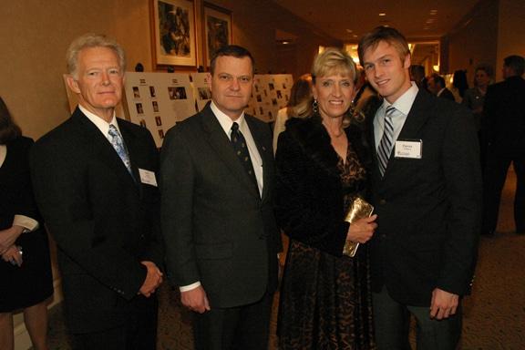 Eric Sandy, Major General Mike Lehnert, Lynne Sandy and Patrick O'Harra.JPG