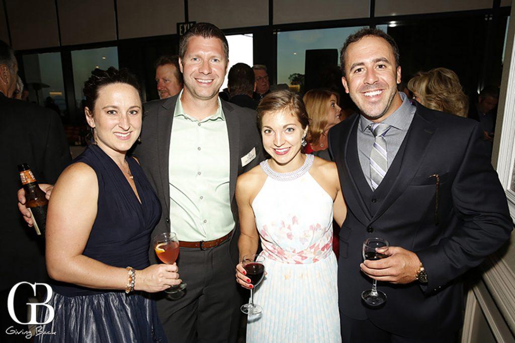 Erin and Jason Mrozek with Brianna Lostaglio and Ryan Major