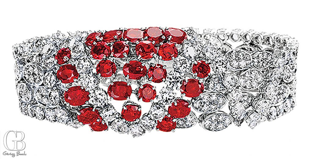 Estate  s Ruby Diamond Bracelet