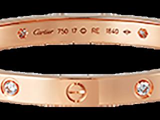 f5d17b26e9434d Estate Cartier kt Pink Gold Love Bracelet with Diamonds .png