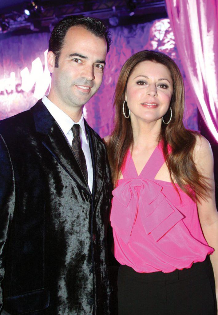 Esteban Villanueva with Jane Leeves at the GLLAD Awards.JPG