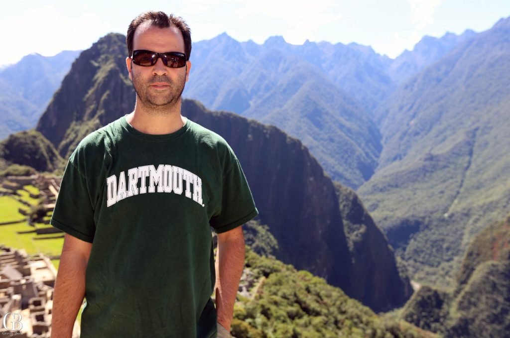 Esteban Villanueva at Machu Picchu