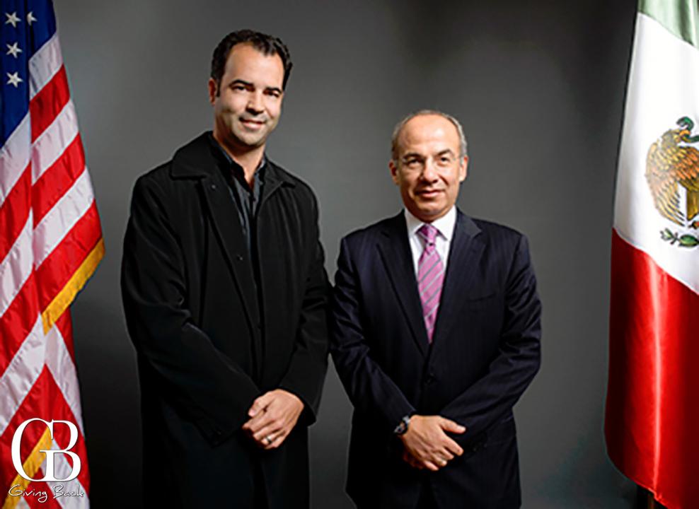 Esteban Villanueva y Presidente Felipe Calderon