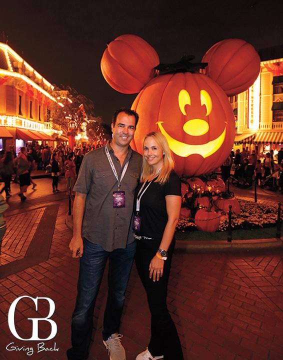 Esteban and Danitza at Disneyland Halloween Time