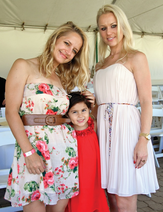 Eva Lamackova and Alena Kortis with Alena.JPG