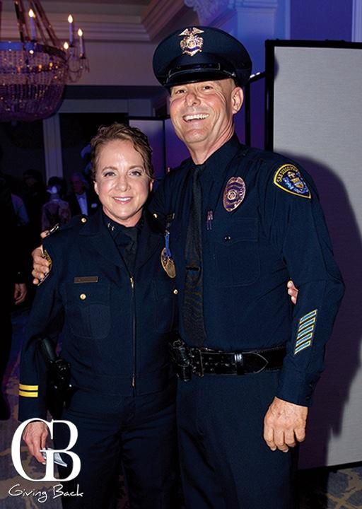 Executive Chief Sandra Albrektsen and Officer Larry Adair