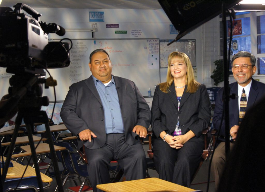 FDA TV interview announcing Generation st Degree with Gil and Jacki Cisneros in Los Angeles.JPG