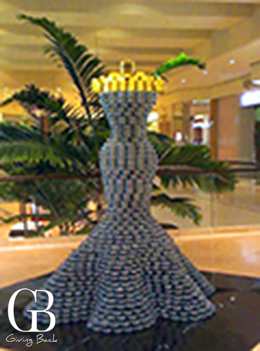 FIDM  s Canstruction made of   cans of food for the Orange County Food Bank