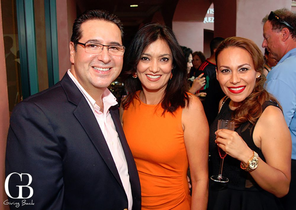 Fabrie and Marcelal Burquez with Iliana Magana