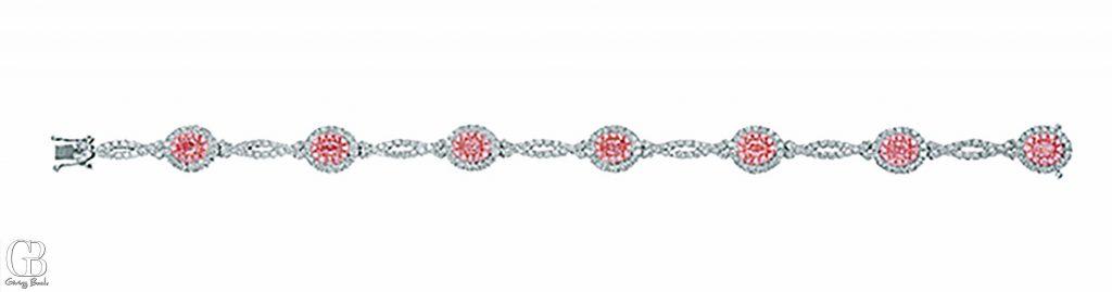 Fancy Pink Diamond Bracelet