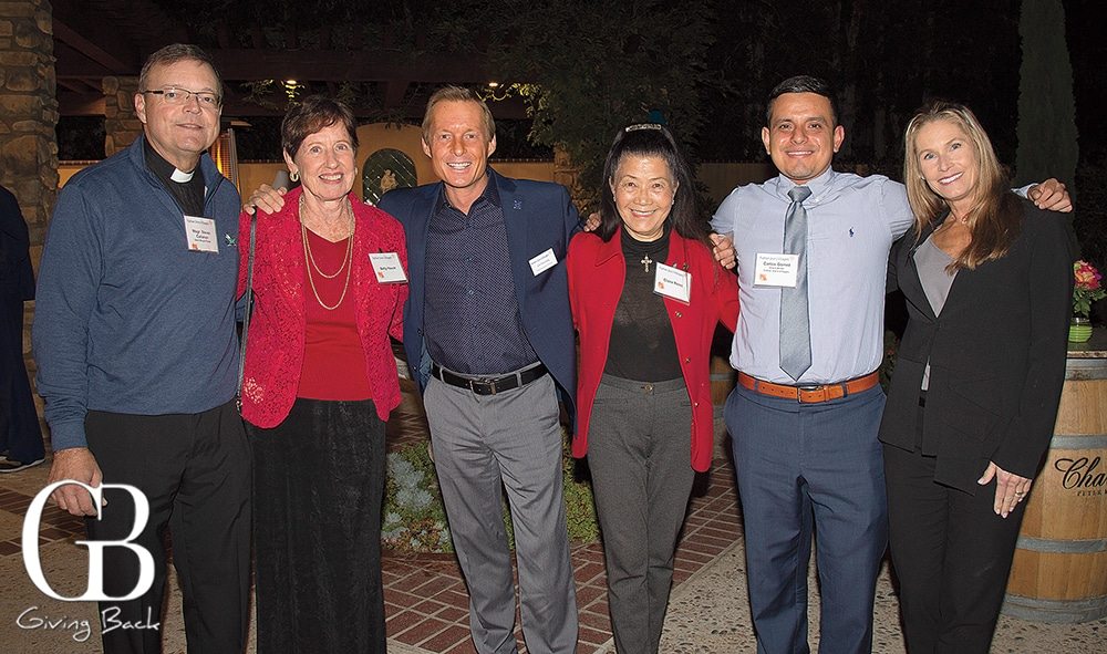 Father Steve Callahan  Betty Hauck  Jim Kennedy  Claire Reiss  Carlos Gomez and Wendy Endsley