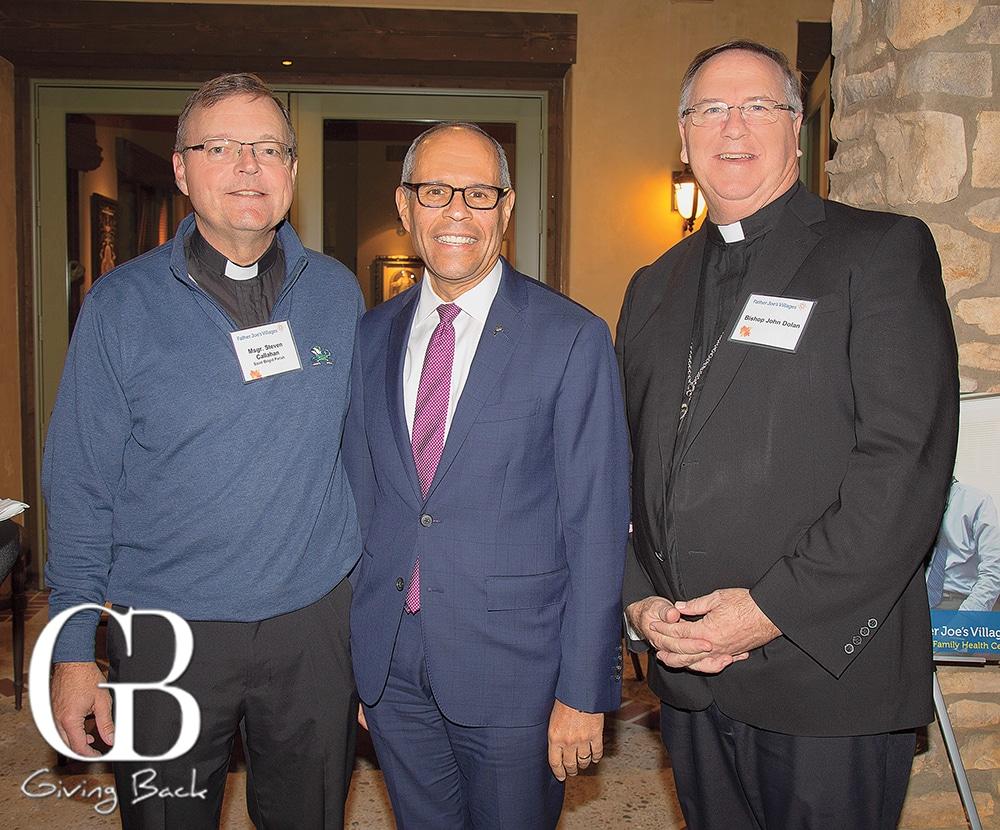Father Steve Callahan  Deacon Jim Vargas and Bishop John Dolan