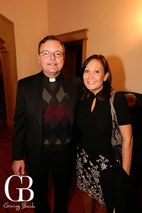 Father Steve Callahan and Eileen Benjamin