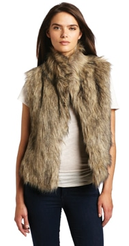 Faux Fur Vest by Calvin Klein