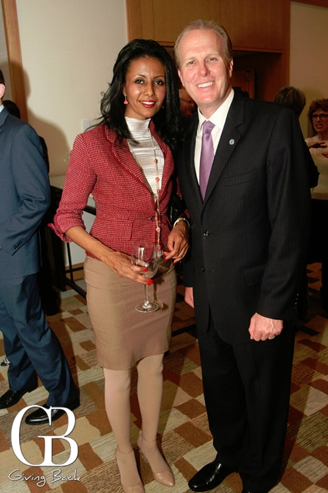 Feben Yohannes and Mayor Kevin Faulconer