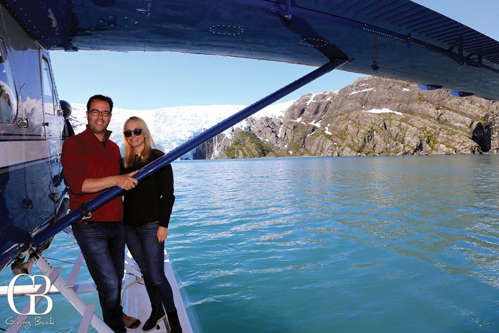 Float Plane landing at Blackstone Glacier
