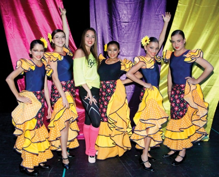 Franchesca Gonzalez Otanez with Flamenco Dancers +.JPG