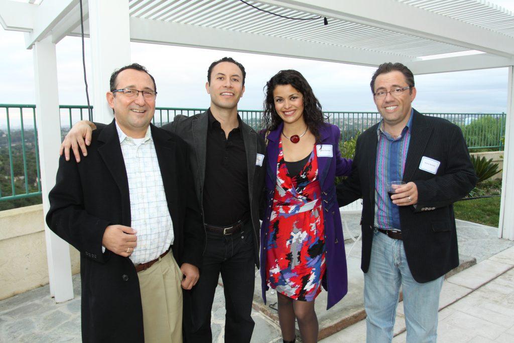Francisco Aldana and Rafael Castellanos with Clarice Estrada and Blaise Barrelet.JPG